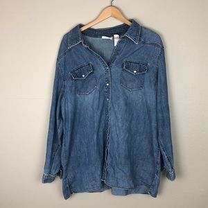 Liz Claiborne Button Down Jean Jacket
